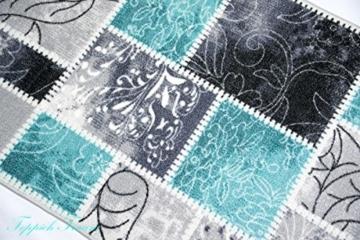 Teppich Modern, Flachgewebe, Gel-Läufer, Küchenteppich,Grau Tukis (TraumTeppich) Größe 80x150 cm -