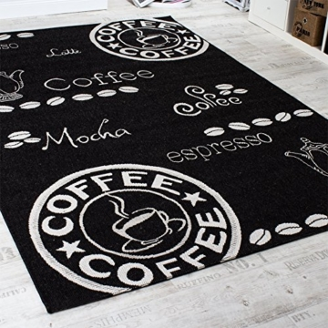 Teppich Modern Flachgewebe Sisal Optik Küchenteppich Anthrazit Grau, Grösse:80x200 cm -