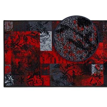 Teppichläufer mit modernem Design in brillianten Farben   hochwertige Meterware, gekettelt   Kurzflor Teppich Läufer   Küchenläufer, Flurläufer (67x350 cm) -