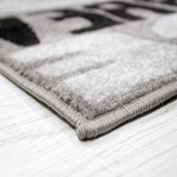 trendiger kaffee k chenl ufer k chenteppich verschiedene schriftarten und muster meliert in. Black Bedroom Furniture Sets. Home Design Ideas