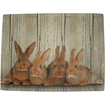 waschbare Fußmatte Hasen - Kaninchen Familie - Küchenmatte Türmatte -