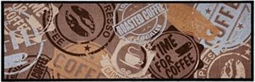 Waschbarer Küchenläufer Coffee Stamp Braun 50x150 cm | 102451 -