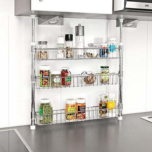 ▷Gewürzregal Küchenregal beliebig verstellbar Regal für ...