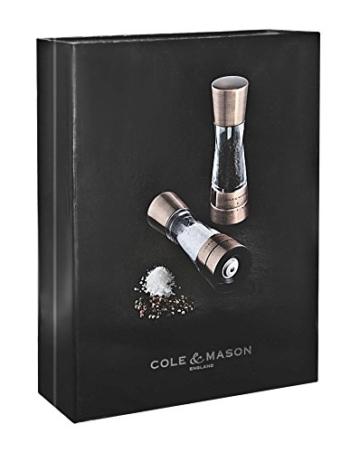 Cole & Mason ch59418g Derwent Set Mühlen für Salz/Pfeffer Edelstahl Kupfer 6x 6x 19cm -