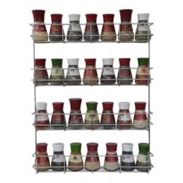 COPA Design 4Etagen Kräuter- und Gewürzregal | Spice Organizer Wand montieren oder Küche Schrank Aufbewahrung (einfach zu installieren) | Messungen: (bxdxh): 500x 66x 405mm | integrierte Gewürzregal für 4x 8Spice Potts -