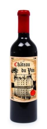 """Pfeffermühle """"Weinflasche"""" aus lackiertem Massivholz, ein echter Hingucker an jeder Tafel,  sieht einer echten Weinflasche zum Verwechseln ähnlich -"""