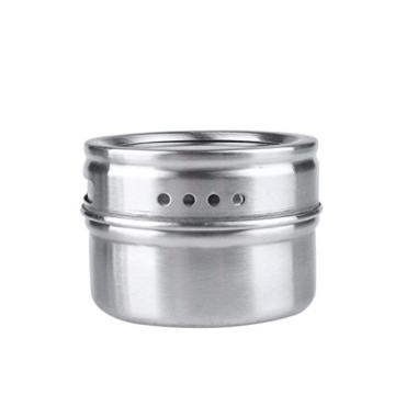 ZQL 6 Tlg Gewürzständer magnetisch Gewürz-Regal Edelstahl Magnetständer Edelstahl-Magnettablett mit -
