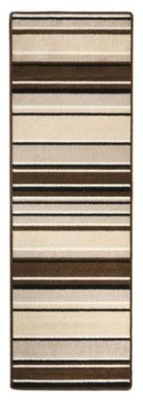 Andiamo 1100305 Teppich Plano, Läufer mit Streifen, 65 x 200 cm, beige / braun -