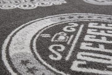 Andiamo 290739 Küchenläufer Coffeeshop Läuferteppich Brücke Kurzflor Teppich Oeko-Tex 100 Küchenläufer, Polyamid, Anthrazit, 67 x 180 cm -