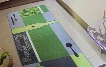 Andiamo Teppichläufer Küchenläufer 67 x 200 cm vers. Farben/Motive (Grün) -