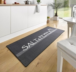 Hanse Home 102395 Teppichläufer, Polyamid, grau, 67 x 180 x 0.8 cm -