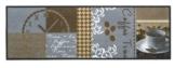 """Küchenläufer / Küchen Läufer / Küchenmatte / Dekoläufer für Küche und Bar / waschbare Küchenläufer / Küchendeko Modell ,,COOK & WASH coffee time """" Cappuccino Kaffee Espresso Größe ca. 50 x 150 cm / Maschinen waschbar auf 30 ° Grad -"""