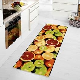 Küchenläufer / Küchenmatte / Läufer / Dekoläufer für Küche und Bar - Früchte - Der Hingucker in Ihrer Küche / Ihre Gäste werden staunen / Küchenläufer / Küchendeko Modell Früchte ca. 67 x 180 cm - Orangen - Citrusfrüchte - -