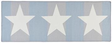 Küchenläufer / Küchenmatte / Läufer / Dekoläufer für Küche und Bar / Sterne / Stern / grau blau / Der Hingucker in Ihrer Küche / Ihre Gäste werden staunen / Küchenläufer / Küchendeko - ca. 67 x 180 cm -