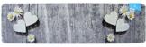 matches21 Küchenläufer Teppichläufer Teppich Läufer Gänseblümchen & Herzen auf Holz 50x180x0,4 cm maschinenwaschbar -