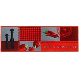 """MD-Entree 7701515301 Küchenläufer """"Buon appetito"""", Abmessungen 50 x 150 cm, Polyamid, mehrfarbig, 68 x 38 x 38 cm -"""