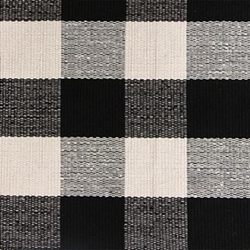 pragoo baumwolle karierten teppich modern k chenteppich k chenl ufer handgewebt geflochtene. Black Bedroom Furniture Sets. Home Design Ideas