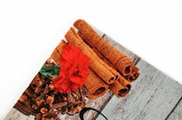 Rutschfeste, Waschbare deco-mat Küchenläufer - Extra schmutzabweisend - Ideal für Küche und Familienhaushalt - in verschiedenen Designs und Größen (80 x 200 cm, Holz braun-beige) -