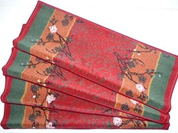 Shiraz Läufer Rot - Bordüre B/80 cm Meterware Teppich Küchenläufer Läufer nach Maß lfm. 13,90 Euro Passende Stufenmatten zum Läufer 4 er Set rechteckige Form -