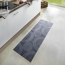 Waschbarer Küchenläufer Flower Dots Grau 50x150 cm | 102452 -