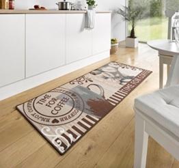 Hanse Home 102372 Teppichläufer, Polyamid, braun, 67 x 180 x 0.8 cm -