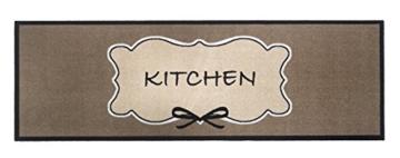 Küchenläufer / Küchenmatte / Dekoläufer für Küche und Bar / Teppich Läüfer / waschbare Küchenläufer / Küchendeko Modell ,,COOK & WASH kitchen - braun -