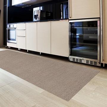 Küchenläufer Meterware | abwaschbar | pflegeleichter Läufer für Küche, Flur usw. | hygienisch und strapazierfähig | stilvoll gewebt | Verona 90x125 cm -