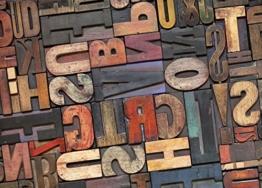 Küchenläufer rutschfest color-rè Fantasie Letters 60x190 Letters -
