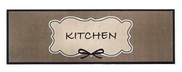 Küchenmatte Design Kitchen | 150 x 50 cm | Küchenläufer | Dekoläufer | Küchenmatte | bis 30° waschbar | verschiedene Motif zur Auswahl -