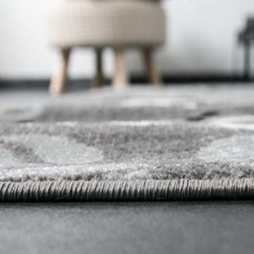 Teppich Modern Flachgewebe Sisal Optik Küchenteppich Küchenläufer Coffee Grau Weiss Schwarz Töne - VIMODA, Maße:60x100 cm -