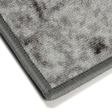 Teppichläufer im Vintage Look | brilliante Farben | hochwertige Meterware, gekettelt | Kurzflor Teppich Läufer | Küchenläufer, Flurläufer (Grau, 80x150 cm) -
