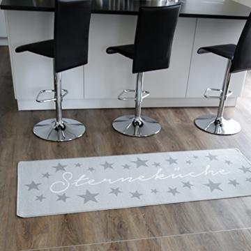 Topanbieter999 Küchenläufer Sterneküche hellgrau 180 x 67 cm -