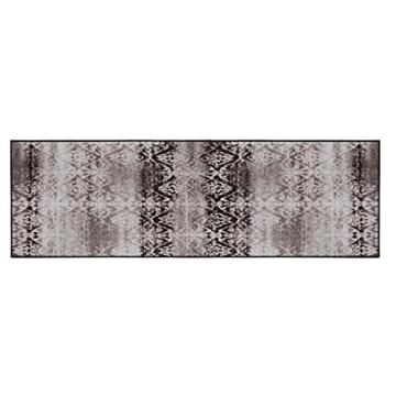 Vintage Teppichläufer | im angesagten Shabby Chic Look | hochwertige Meterware, gekettelt | Kurzflor Teppich Läufer | Küchenläufer, Flurläufer (Braun,80x100 cm) -