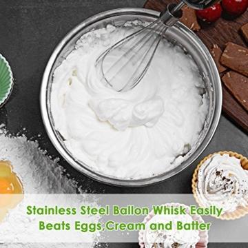 Aicok 4-in-1 Stabmixer 800W 6 Geschwindigkeit Pürierstab mit 500ml Küchenmaschine-Aufsatz und 800ml Becherglas & Schneebesen für Smoothie, Suppen, Babynahrung, Robustem Edelstahl - 7