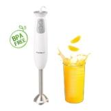 Aigostar Stirring White 30ISF - Stabmixer mit 700ml Becher, 2-fach, hochwertiger Kunststoff und 304 Food Grade Edelstahl, 400W, BPA frei, weiß, Eclusive Design. - 1