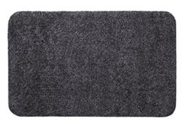 andiamo 700602 Schmutzfangmatte Samson / Waschbare Türmatte aus Baumwolle in Anthrazit für den Innenbereich / 1 x Fußmatte (40 x 60 cm) - 1