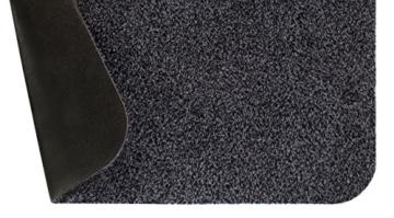 andiamo 700602 Schmutzfangmatte Samson / Waschbare Türmatte aus Baumwolle in Anthrazit für den Innenbereich / 1 x Fußmatte (40 x 60 cm) - 4