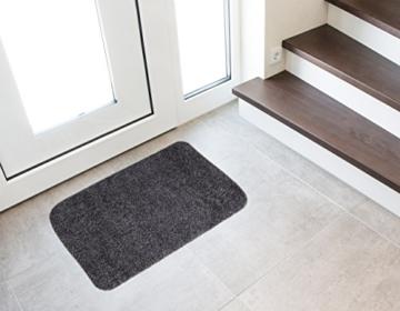 andiamo 700602 Schmutzfangmatte Samson / Waschbare Türmatte aus Baumwolle in Anthrazit für den Innenbereich / 1 x Fußmatte (40 x 60 cm) - 5