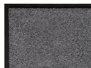 andiamo Schmutzfangmatte Fußabtreter Türmatte Fußmatte Sauberlaufmatte Schmutzabstreifer Türvorleger – Eingangsbereich In/Outdoor – rutschhemmend waschbar grau Polypropylen– 90x150 cm – 5 mm Höhe - 3