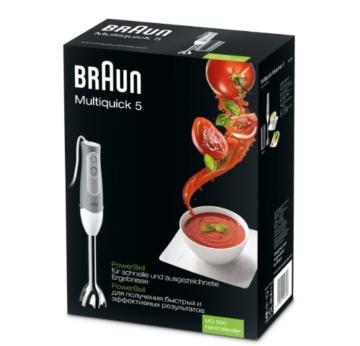 Braun Multiquick 5 MQ 500 Soup Stabmixer (600 W, logische Geschwindigkeitsregelung, Turbo-Funktion, EasyClick System, PowerBell Technologie) grau - 2