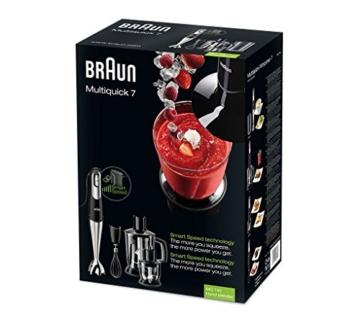 Braun Multiquick 7 MQ 745 Aperitive Stabmixer (750 W, Standmixer-Aufsatz (1250 ml) Edelstahl-Schneebesen, EasyClick System, PowerBell Technologie) - 10
