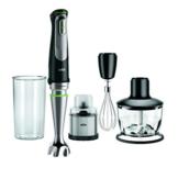 Braun MultiQuick 9 MQ 9038X Stabmixer, 1.000 W, Edelstahl Kaffee- und Gewürzmühle, Zerkleinerer (500 ml), EasyClick System Plus, Schwarz/Edelstahl - 1