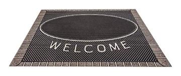 CarFashion 270754A Pur|ScrapClean Design Fussmatte-Schmutzfangmatte – Sauberlaufmatte – Eingangsmatte für Innen und Aussen, TPE-VC 100% Nachhaltig, Bronze Metallic Oberfläche, 59 x 39 cm - 2