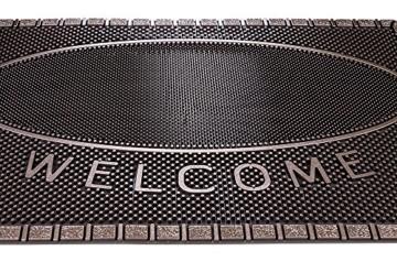 CarFashion 270754A Pur|ScrapClean Design Fussmatte-Schmutzfangmatte – Sauberlaufmatte – Eingangsmatte für Innen und Aussen, TPE-VC 100% Nachhaltig, Bronze Metallic Oberfläche, 59 x 39 cm - 3