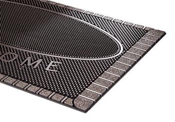 CarFashion 270754A Pur|ScrapClean Design Fussmatte-Schmutzfangmatte – Sauberlaufmatte – Eingangsmatte für Innen und Aussen, TPE-VC 100% Nachhaltig, Bronze Metallic Oberfläche, 59 x 39 cm - 4