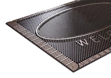 CarFashion 270754A Pur|ScrapClean Design Fussmatte-Schmutzfangmatte – Sauberlaufmatte – Eingangsmatte für Innen und Aussen, TPE-VC 100% Nachhaltig, Bronze Metallic Oberfläche, 59 x 39 cm - 5