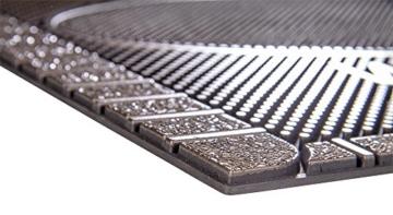 CarFashion 270754A Pur|ScrapClean Design Fussmatte-Schmutzfangmatte – Sauberlaufmatte – Eingangsmatte für Innen und Aussen, TPE-VC 100% Nachhaltig, Bronze Metallic Oberfläche, 59 x 39 cm - 6