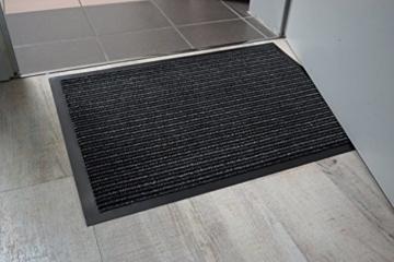 Carpido Wanda, FS0611080040, Sauberlauf-/Tuer-/Fussmatte, fuer den Innenbereich, 100% Polypropylen, 80 x 120 cm, grau - 4