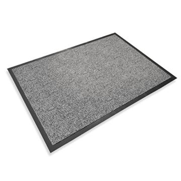 casa pura® Premium Fußmatte in attraktiver Optik | Schmutzfangmatte in 5 Größen | hellgrau | 90x150cm - 2