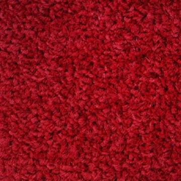 casa pura® Premium Fußmatte in attraktiver Optik | Schmutzfangmatte in 5 Größen | rot | 90x150cm - 3